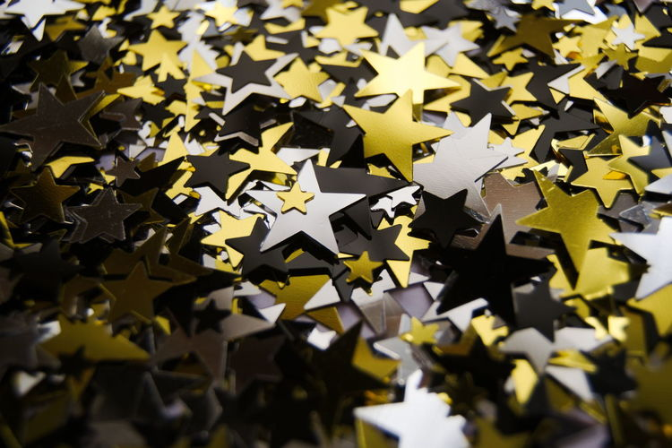 """""""Inhale sky, exhale stars"""" Abundance Black Black Star Close-up Community Day Gold Gold Star Jigsaw Puzzle Large Group Of Objects No People Silver  Silver Star Star Stars Togetherness Unity New Years Eve Celebrate Party Pattern Pattern, Texture, Shape And Form Pattern Design Pattern Pieces"""