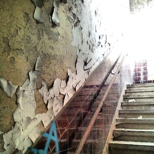 Da gehts ins Licht. Rust Lost Rotten Urbex Urbanexploration Lostplaces Peelyporn Peely Sfx_urbex Lostplace Stairporn Light