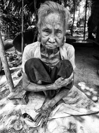 Human condition Old woman blind and deaf. Her main existence highlight was the pipe she smoked daily. Mrauk U, Myanmar. April 2016. Black And White Blackandwhite Contrast Human Condition Human Face Human Representation Illness Mrauk-U Myanmar Old Old Woman Poverty Sickness Woman