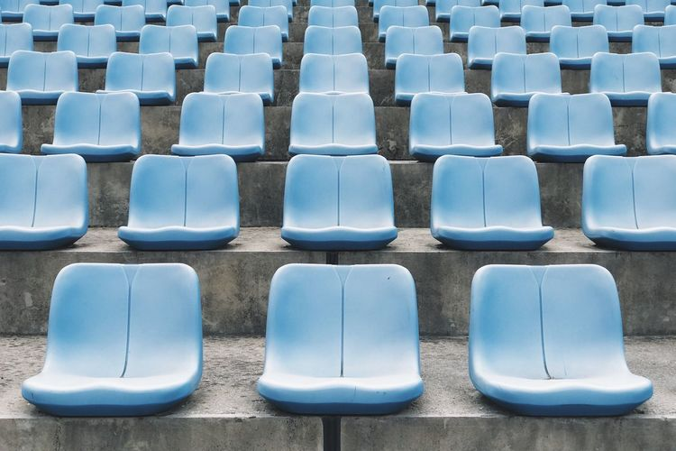 EyeEm Selects In A Row Seat Chair Empty Absence Repetition No People Arrangement Indoors  Day Auditorium