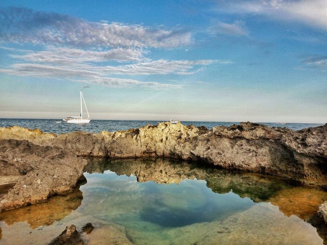 Water Reflection Sky Sea Beauty In Nature Nature Horizon Over Water Tranquility Tranquil Scene Day No People ScenicsOutdoors Beach Leuca