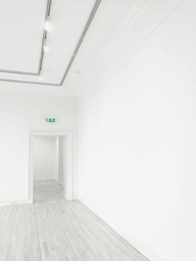 Door Indoors  Empty Architecture No People Built Structure Entrance Hall Exit Sign Day Artgallery Scotland