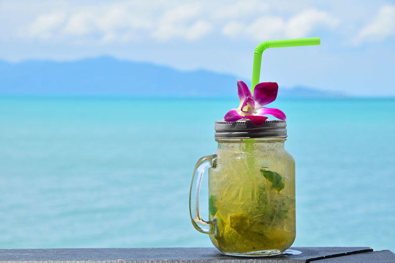 Sitting on the beach, looking at sea and drinking mojito - those quiet moments and memories are precious when we are back to work Beach Beverage Drink Enjoy Enjoying Life Exotic Liquid Lunch Mojito Mojito Time Mojito! Mojitos Moment Relax Sea Seaside Thailand Travel Traveling Tropical Vacation Vacation Time Been There. Colour Of Life Done That.