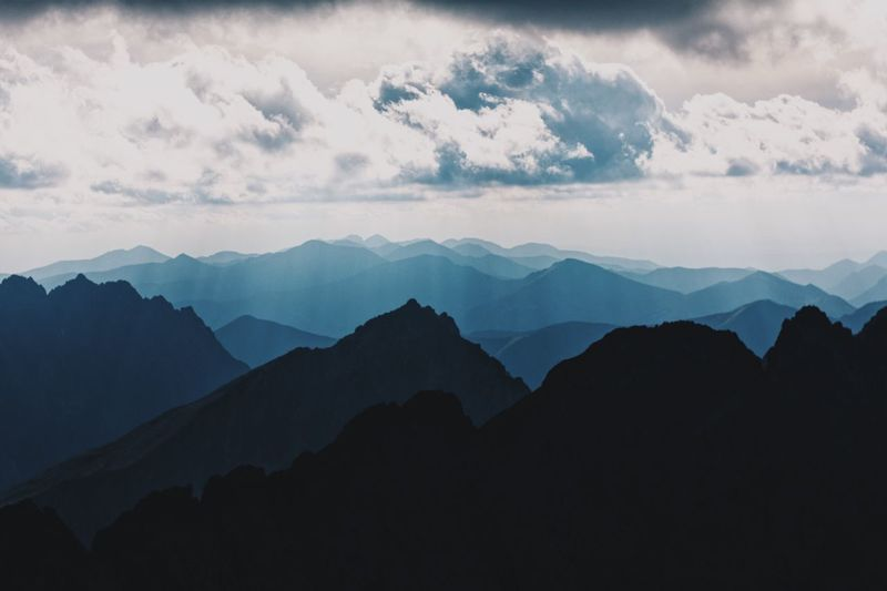 Mountain Mountain Range Beauty In Nature Nature Sky Silhouette Scenics Outdoors Tranquil Scene Tranquility Cloud - Sky No People Peak Day