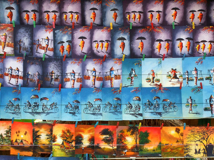 Street art being sold by the streets of Vientiane, Laos. Album Cover Art ArtWork Drawing Forsale Indochina Laos Monkpainting Monks Painting Photography Stockphoto Streetart Travel Traveling Vientiane