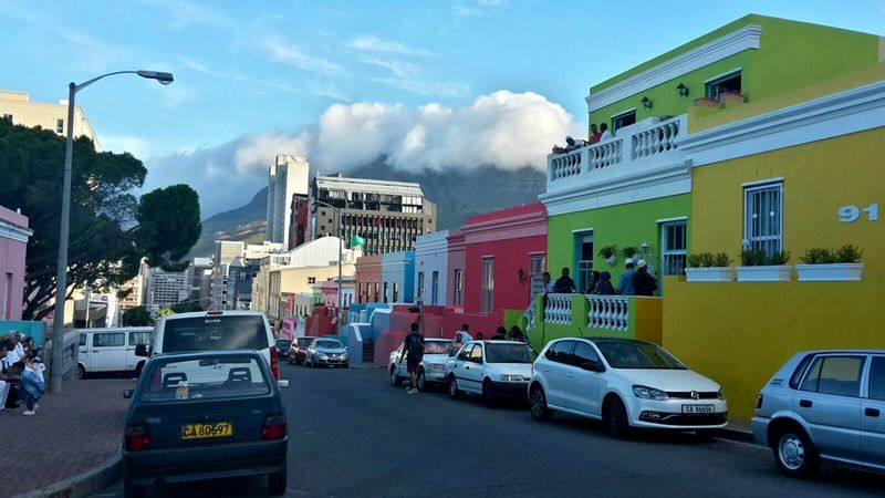 Bo-kaap South Africa Cape Town Coulorful World Table Mountain
