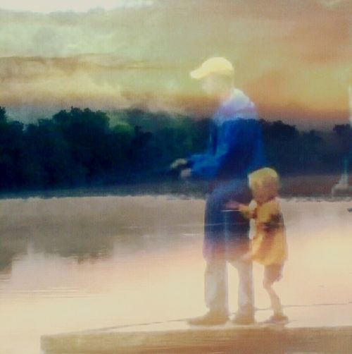 RePicture Masculinity Father & Son Fishing: Capturing Relationship, Keeping Memories, Family, Nature, Outdoors The Week On EyeEm This Is Masculinity