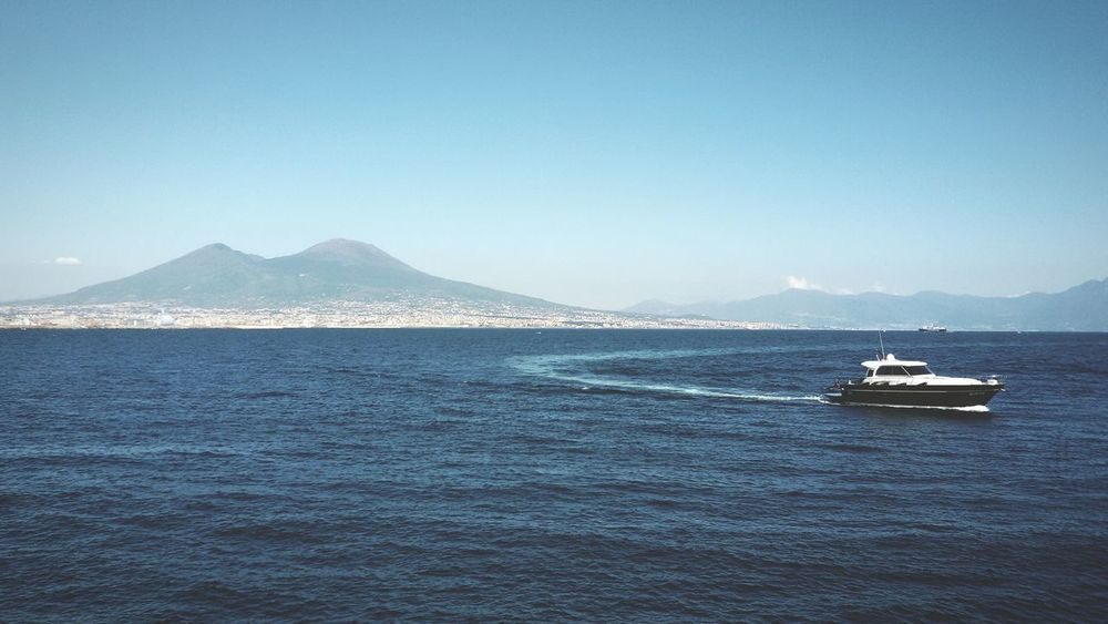 Sea Nautical Vessel Water Nature Clear Sky Travel Destinations Blue Scenics Sky Beauty In Nature Enjoying Life Napoli Italy Vesuvio Da Napoli Vesuvio Day Yacht Hello World Eye4photography  The Places I've Been Today Relaxing Summertime Enjoying The Sun Multi Colored Notes From The Underground Traveling