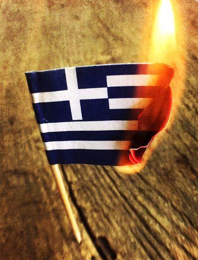 Greece flag on