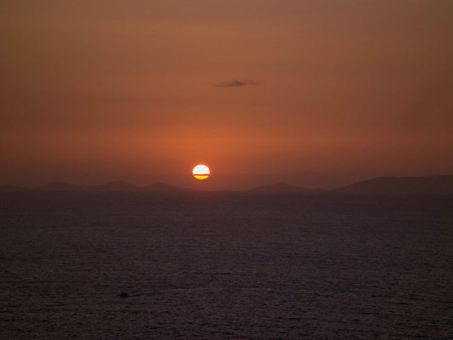 Calm Orange Color Sardegna Sardinia Sea And Sky Sun Sunset Tramonto