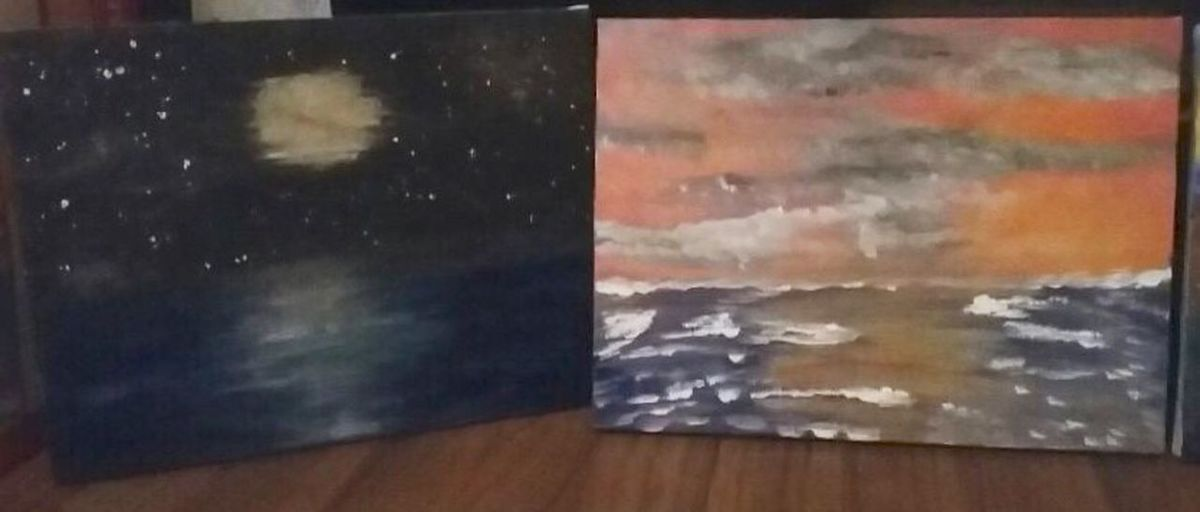 My Friends Painting Paint No People Indoors  Multi Colored Clouds & Sky Daytime Night Time Original Paintings