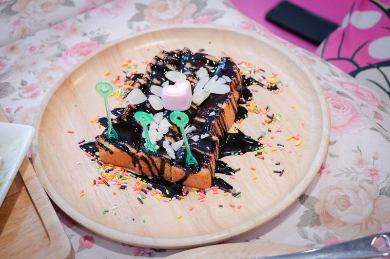 Dessert High Angle View Close-up Sweet Food