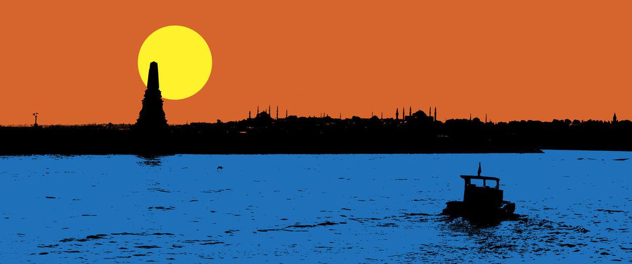 bosphorus silhouette Istanbul Bosphorus Silhouette Sea Boat Skx Sun