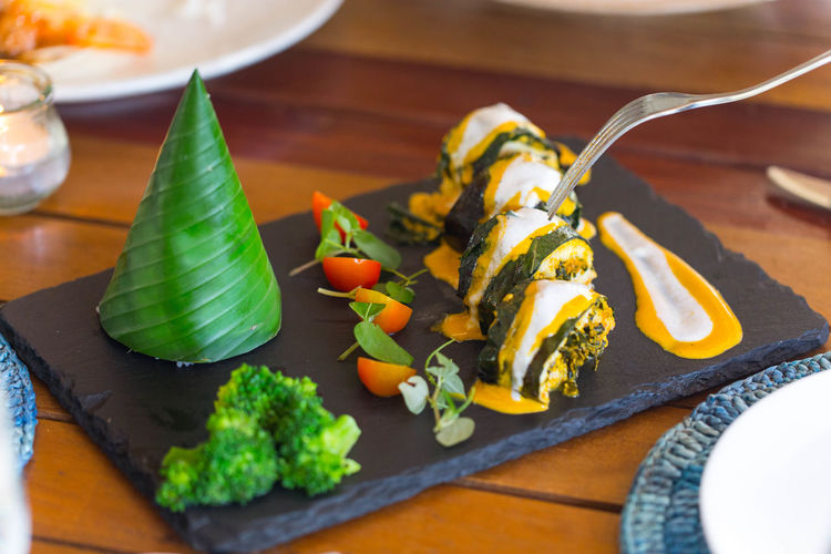 Cambodia traditional food. ASIA Amok Asian  Cambodia Green Color Lunch Meal Modern Siem Reap Spicy Angkor Food Food And Drink Foodphotography Fresh Gourmet Heathy Ingredient Leaf Plate Restaurant Sauce Tasty Vegetable Water