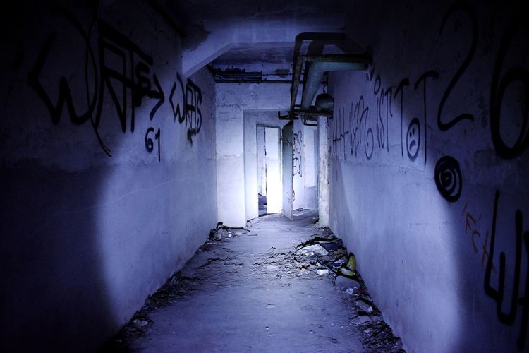 Do you want to go underground with me? Indoors  Tunnel Corridor Built Structure No People Travel History Abondoned Places Abonded Buildings Photography Abdoned Abdoned Bildung Gravestone Lostplaces Rotten Selective Focus Urbanphotography Urbex Urbexexplorer