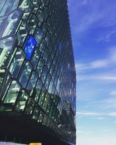 Architecture Reykjavik Harpa Iceland Cloud Structure Building Glass Concerthall