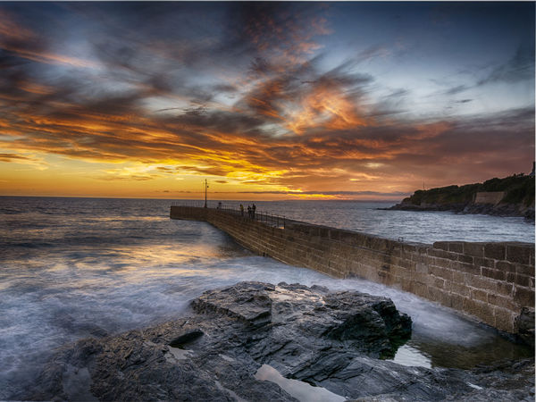 HDR Beach Beauty In Nature Built Structure Cloud - Sky Cornwall Day Horizon Over Water Landscape Landscape_photography Nature Outdoors Porthleven Scenics Sea Sky Sunset Tranquil Scene Tranquility Water