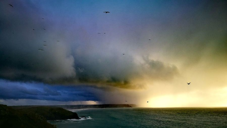 Stormy coastal evening Dramatic Sky Sunset Scenics Beauty In Nature No People Sea Outdoors Sky Storm Cloud Stormy Weather Stormy Skies Huawei P 9 Natural Beauty Seascape Mother Nature Atlantic Ocean Landscape EyeEmNewHere The Great Outdoors - 2017 EyeEm Awards