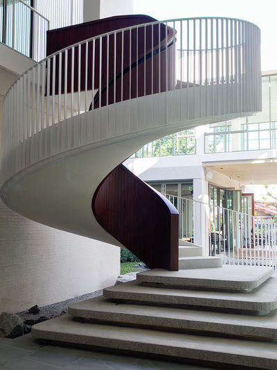 Low angle view of staircase in modern building