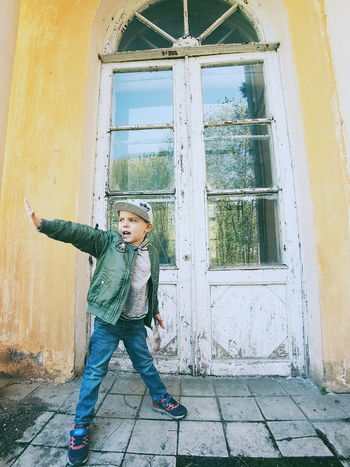 Childhood Children Only Child Casual Clothing Fun One Person Males  People Day Boys One Boy Only Playing Smiling Full Length Outdoors