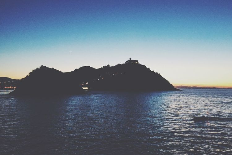 Monte Igueldo Island Ocean Igueldo Donostia / San Sebastián Euskadi EyeEmEuskalherria Sunset Sunset_collection Euskalherria