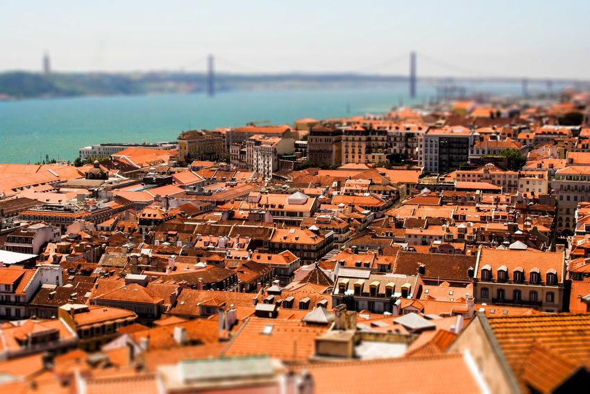 Lisbon Lisboa Lissabon Alfama Skyline Overview Tiltshift Tilt-shift #old Town Tejo