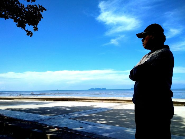Pantai Murni Yan Kedah Pantai Murni Seascape Sillouette Beach Water Sea Beach Women Blue Silhouette Standing Wave Sky Horizon Over Water