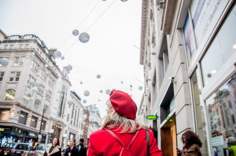 Bag Blond Casual Clothing City Life Composition England Hat Lifestyles London Oxford People Real People Red Street Urban Walk Walking Winter Women EyeEm LOST IN London Postcode Postcards