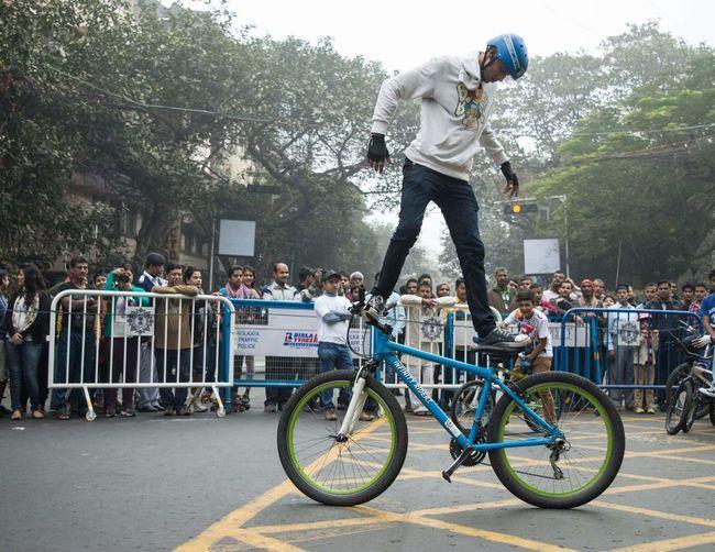 Bike stunt, at happy street kolkata Happystreet Happysunday Kolkata Calcutta India Calcuttastreets