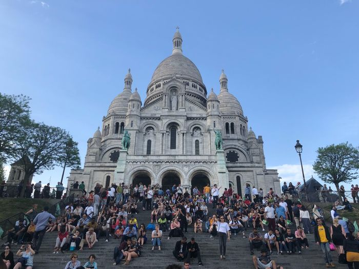 Group of people in front of cathedral