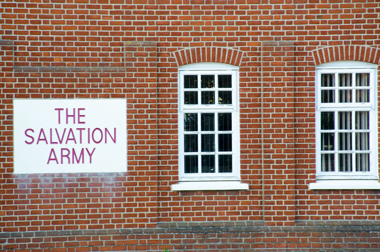 Christian Red Salvation Army Brick Brick Wall Building Exterior Built Structure Hostel Shelter Windows