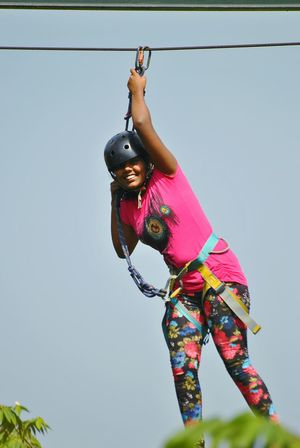extreme sports Portrait Full Length Smiling Sport Women Young Women Challenge Extreme Sports Looking At Camera Cheerful