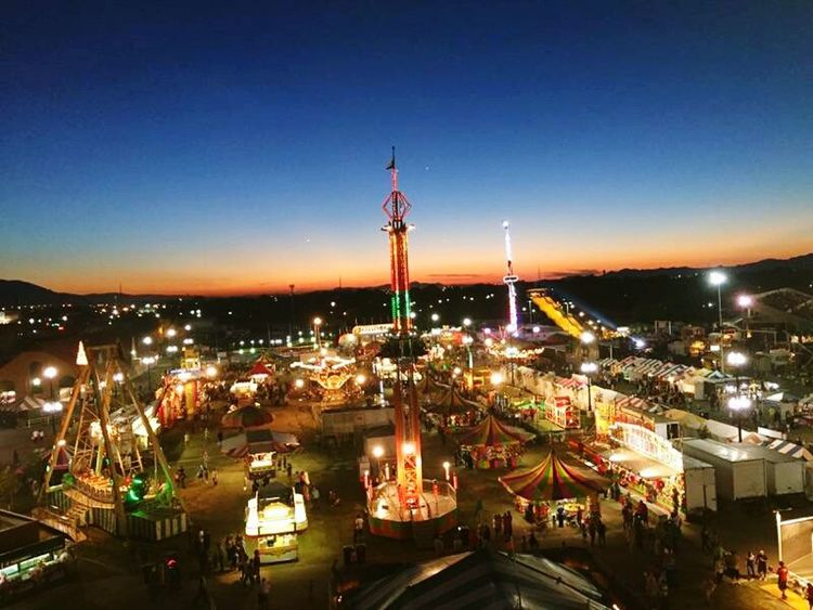 State Fair (my first kiss with my wife 😊) State Fair Ferris Wheel Views Sunset Check This Out Utah Sunsets Utah Sky