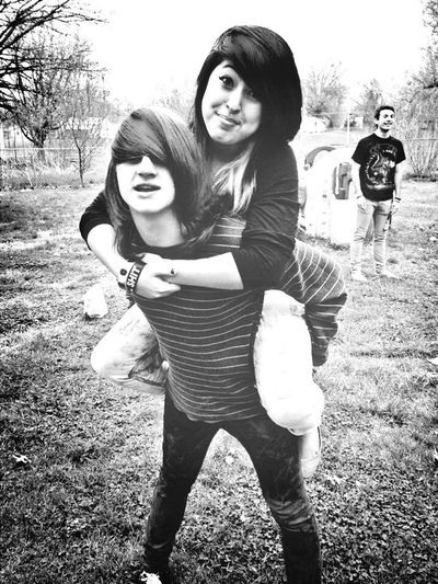 Piggy back ride with my sweetheart <3