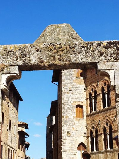 Architecture Building Exterior Built Structure Blue Clear Sky Old Ruin History The Past Sunlight Sky No People Italy Bella Italia Traveling Old Buildings Old Town
