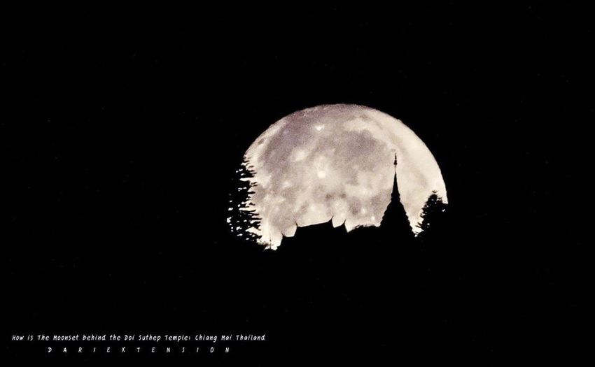 How is The Moon set Behind Pagoda Astrophotography Amazing EyeEm Nature Lover Eye4photography  Lover The Moon