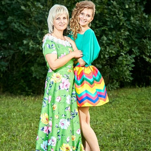 Mother Happyday Forever Young Cheese! New Dress❤ With My Mommy❤ I Love My Mom