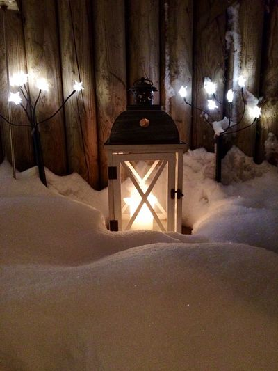 Last Christmas 2014 It's Cold Outside Winter Cold Lantern Candle