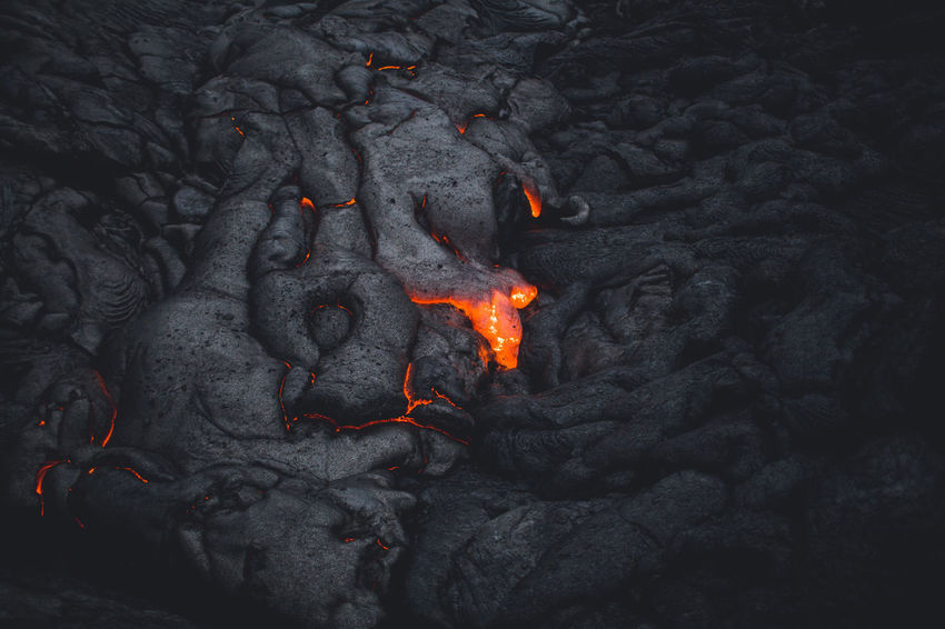 Active Volcano Ash Beauty In Nature Burning Close-up Geology Heat - Temperature Lava Molten Nature Night No People Outdoors Smoke - Physical Structure Volcanic Crater Volcano