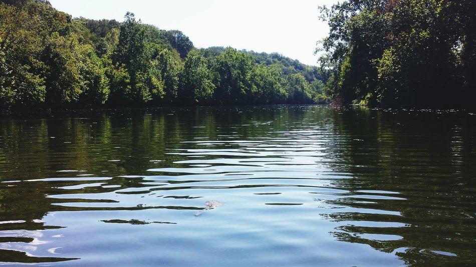 Relaxing Peaceful River Trip Silence So Much Beauty! River Trip Enjoying Life Water Blue Sky