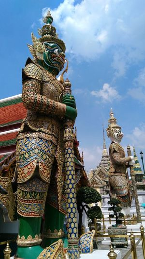 Architecture Art Art And Craft Bangkok Famous Place Grand Palace Bangkok Thailand History Place Of Worship Religion Sculpture Sky Spirituality Spotted In Thailand Statue Temple Temple - Building Thailand Tourism Travel Destinations
