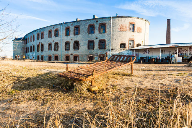 Good prisoners can enjoy sunbathing by the sea Bed Estonia Tallinn Abandoned Architecture Building Exterior Built Structure Cloud - Sky Day History No People Old Prison Outdoors Prison Relaxation Sky Sunbathing