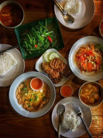Thailand Delights Thailand Food Asian  Thailand Bowl Food And Drink Food Table Healthy Eating Indoors  Freshness Meal High Angle View Soup
