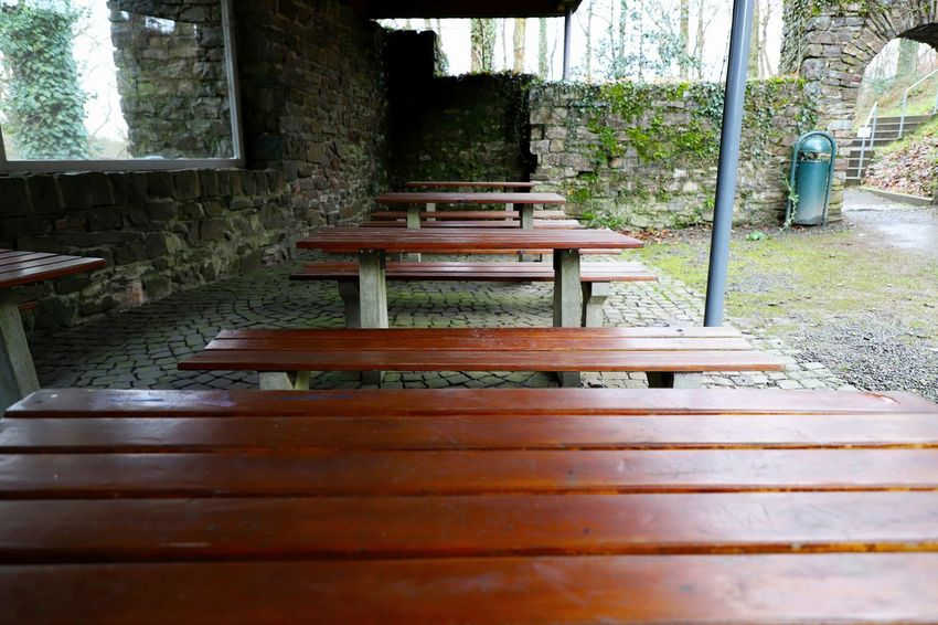 Castle Excursion Nümbrecht Oberberg Picnic Wooden Table Architecture Break Chair Day Nature No People Outdoors Picnic Area Picnic Table Picnic Tables Schloss Homburg Table Tree