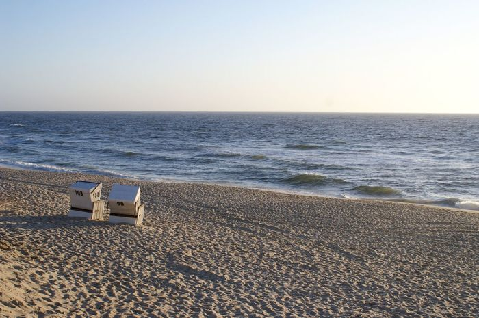 Beach Beach Chair Beauty In Nature Clear Sky Day Horizon Horizon Over Water Nature No People Outdoors Sand Scenics Sea Sky Summer Sylt Tranquil Scene Tranquility Travel Destinations Vacations Water Wave