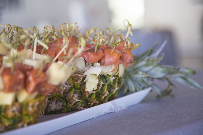 Ananas Canapes Canapé Catering Close-up Coffe Break  Day Flower Flower Head Food In Ananas Freshness Freshness Health Indoors  Nature No People S Salmone Salty Tapas Tasty