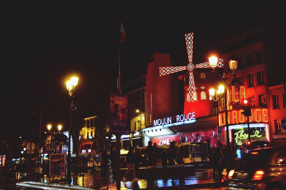 The red lights of Paris. City Cityscapes Cityscape City Life Night Nightphotography Night Lights Red Lights Red District Moulin Rouge Streetphotography Street Night Life Windmill Landmark Showcase: January All The Neon Lights Learn & Shoot: After Dark Cities At Night HUAWEI Photo Award: After Dark