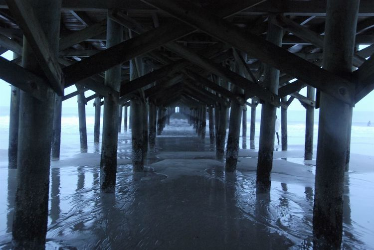 Architectural Column Architecture Beach Day Nature No People Outdoors Pier Pier Post Sea Underneath View From Down Under Water