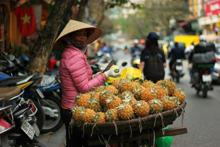 Vietnam First Eyeem Photo Hanoi Pineapple Woman The Street Photographer - 2017 EyeEm Awards