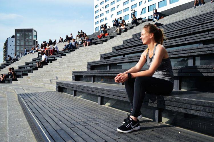 Resting from running! Jaarbeurs Utrecht Jaarbeursplein Utrecht Sports Photography Running